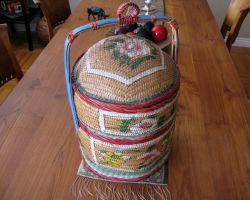 Vintage Chinese Stacking Basket