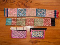 Vintage Hmong Hand Sewn Embroidered Panels
